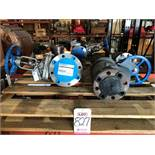 """LOT - (3) OIC GATE VALVES: (2) 3"""" AND (1) 4"""" W/ (1) KUNKLE 2 1/2"""" SAFETY RELIEF VALVE 252FLJ22A8"""