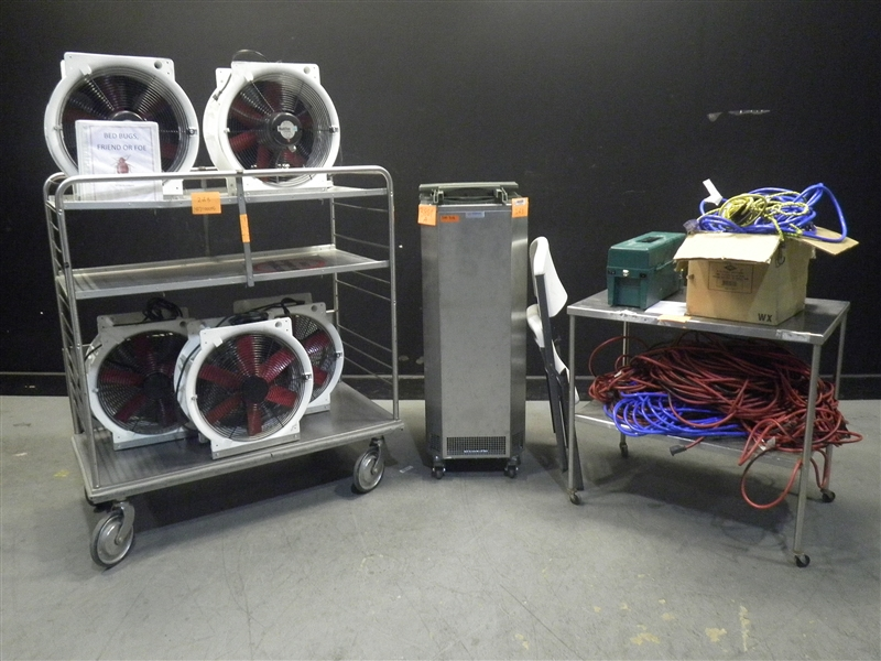 Lot 35 - THERMAL REMEDIATION BED BUG TREATMENT MACHINE WITH 5 MULTIFANS, HEPA FILTER & ACCESSORIES (NO CART)