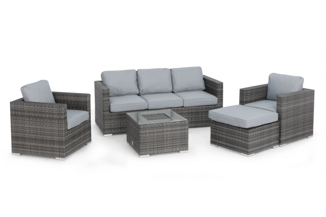 *RESERVE MET* Rattan Georgia 3 Seat Sofa Set With Ice Bucket Feature (Grey) *BRAND NEW* - Image 4 of 4