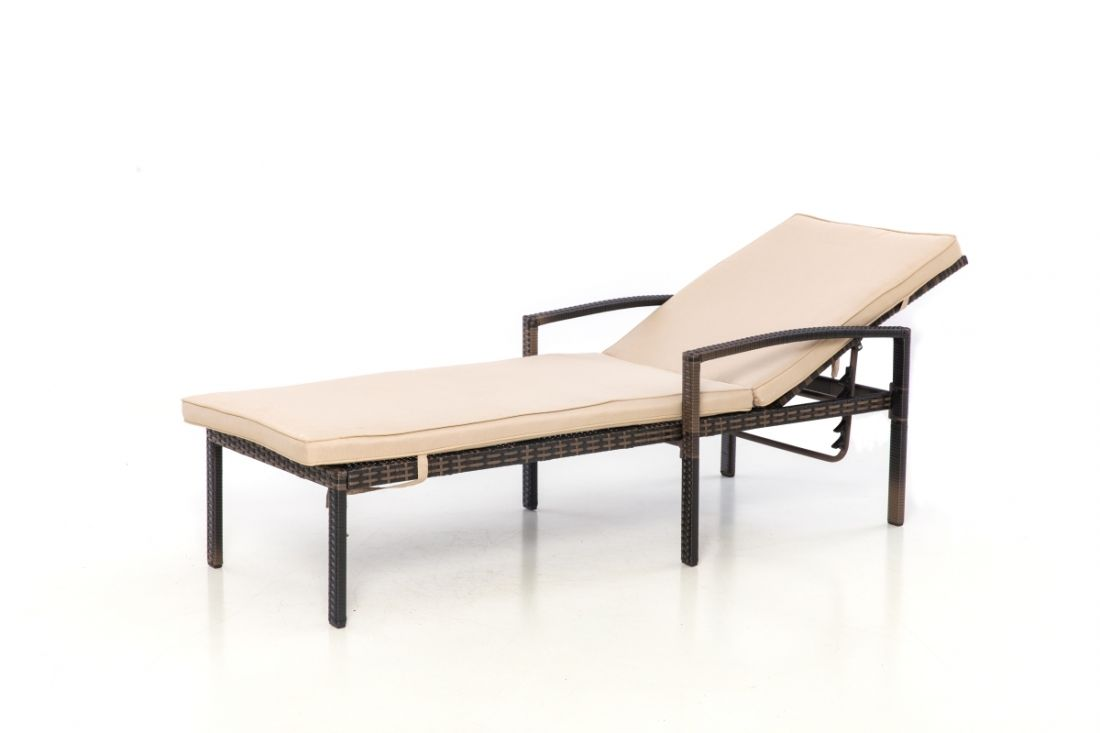 Rattan Austin Sun Lounger (Brown) *BRAND NEW* - Image 2 of 2