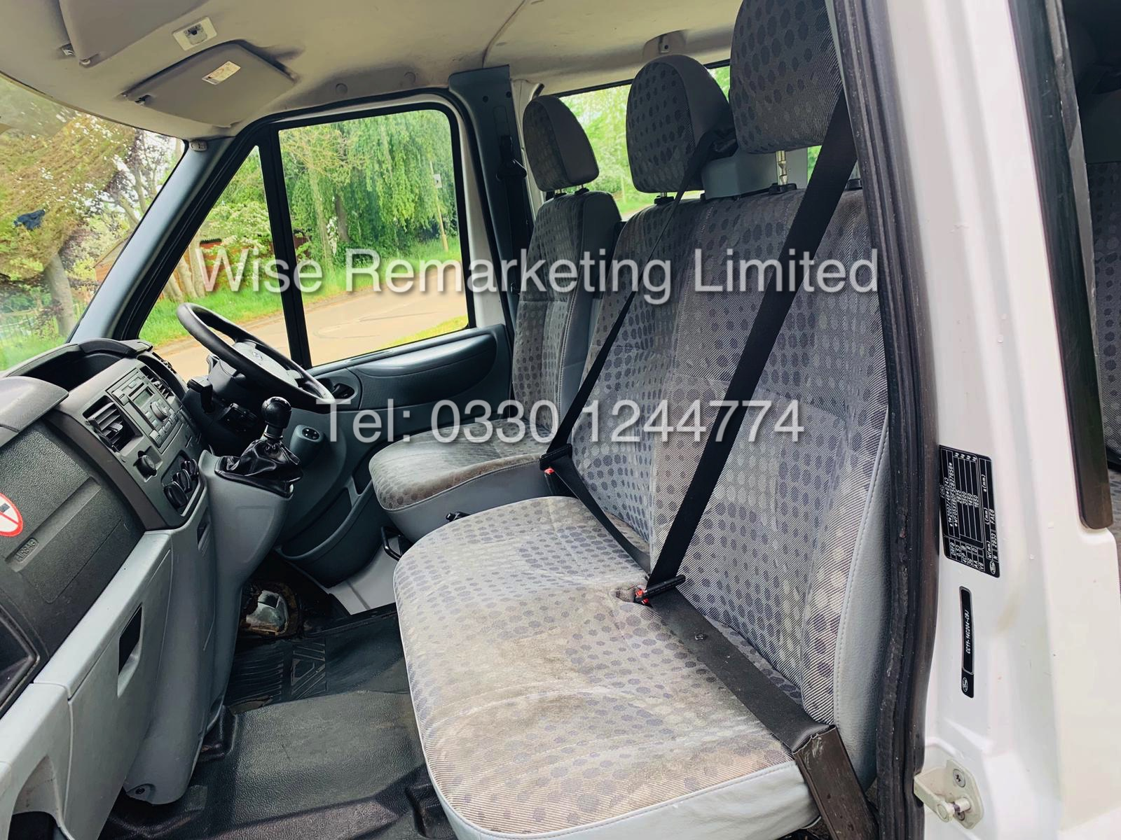 FORD TRANSIT T280 100 2.2 TDCI 6 SEATER KOMBI/CREW VAN 2012 *6 SPEED* - Image 15 of 22