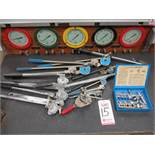 LOT - LARGE QUANTITY OF TUBE BENDING TOOLS, FLARING TOOLS, ETC.