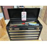 "CRAFTSMAN 4-DRAWER 20"" TOOLBOX, W/ CONTENTS"