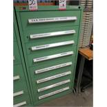 STANLEY VIDMAR 8-DRAWER PARTS/TOOL CABINET, CONTENTS NOT INCLUDED