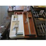 LOT - STARRETT FLUSH READING VERNIER HEIGHT GAGE, NO. 255 AND MITUTOYO DIAL HEIGHT GAGE, NO. 509-