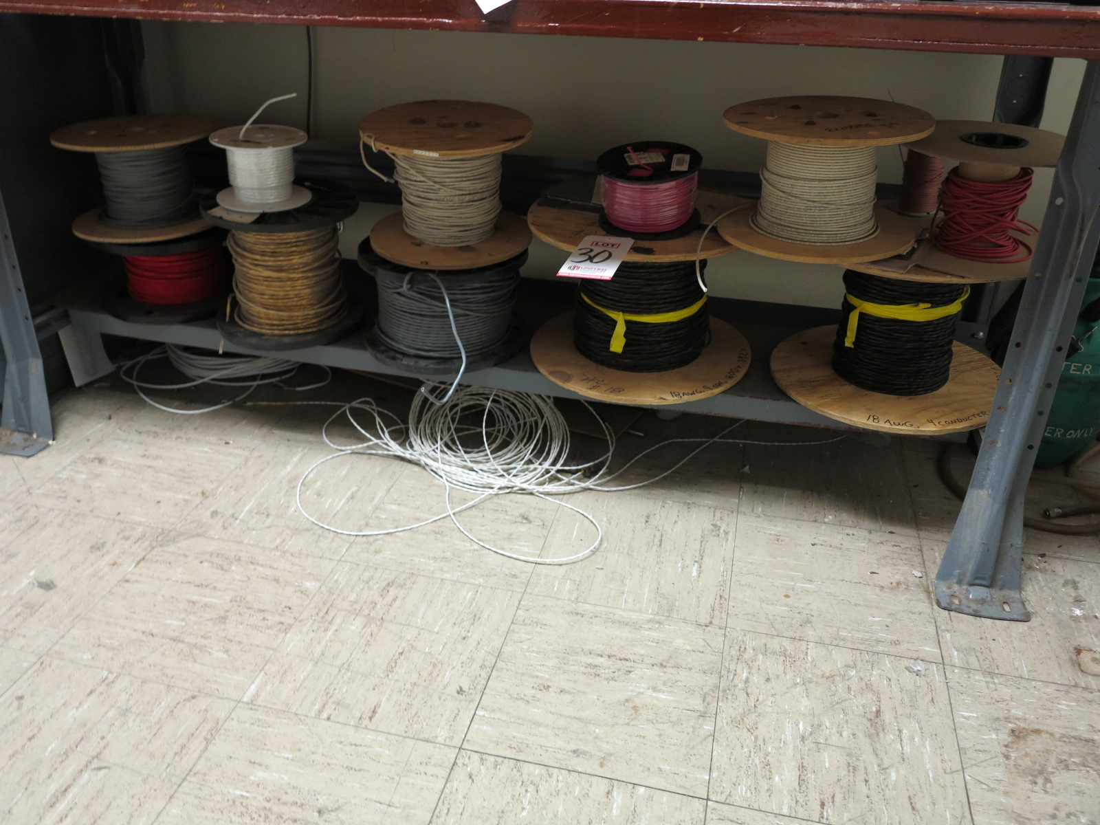 LOT - (11) SPOOLS OF ELECTRICAL WIRE