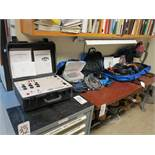 LOT - DOBLE TDR900 CIRCUIT BREAKER ANALYZER, W/ (4) NYLON CASES OF ACCESSORIES TO INCLUDE: AC/DC