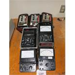 LOT - (1) SIMPSON 303 VACUUM TUBE VOLTMETER, (2) SIMPSON 260 ANALOG MULTIMETERS, (1) SIMPSON 360