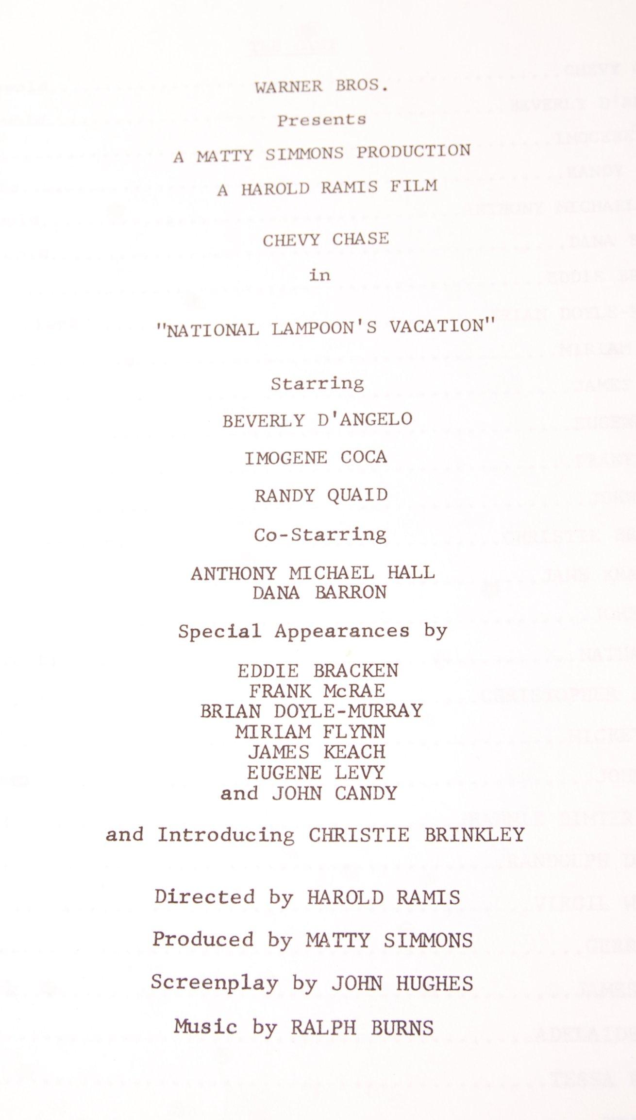 NATIONAL LAMPOON'S VACATION - 1983 - ORIGINAL PRES - Image 2 of 4
