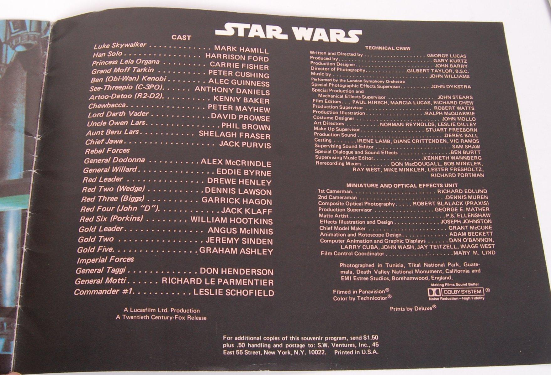 RARE ORIGINAL 1977 STAR WARS UK CINEMA RELEASE BRO - Image 4 of 4