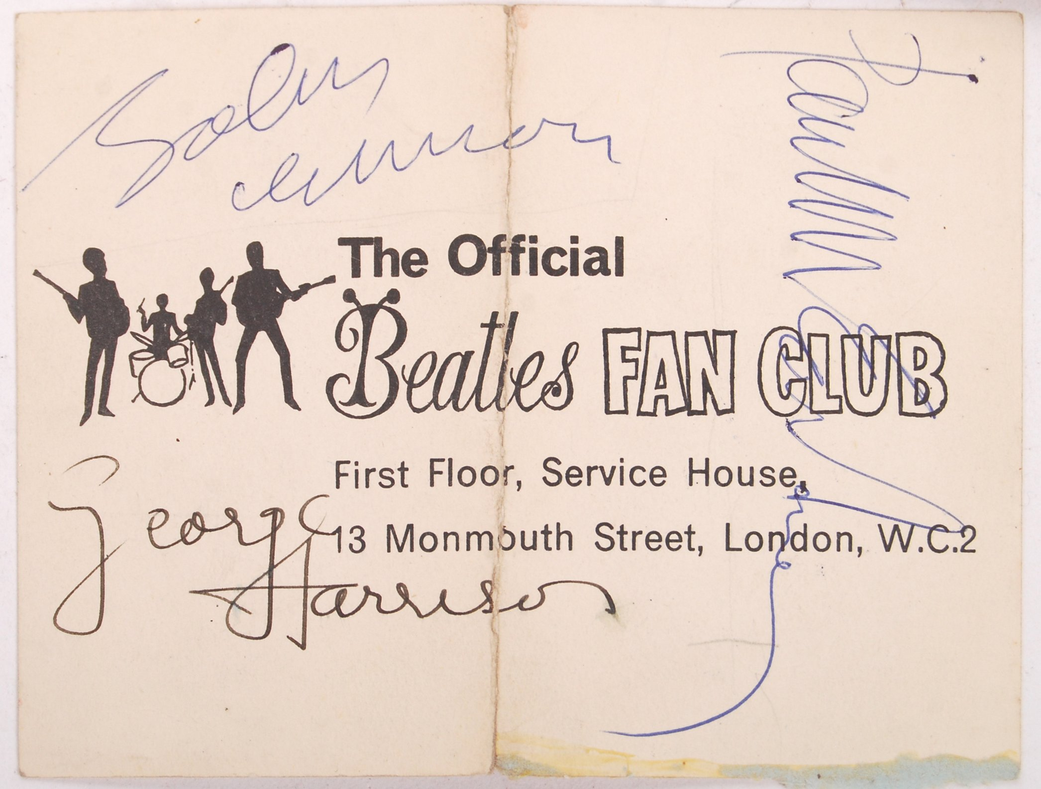 INCREDIBLY RARE PERSONAL BEATLES AUTOGRAPH COLLECT - Image 2 of 12