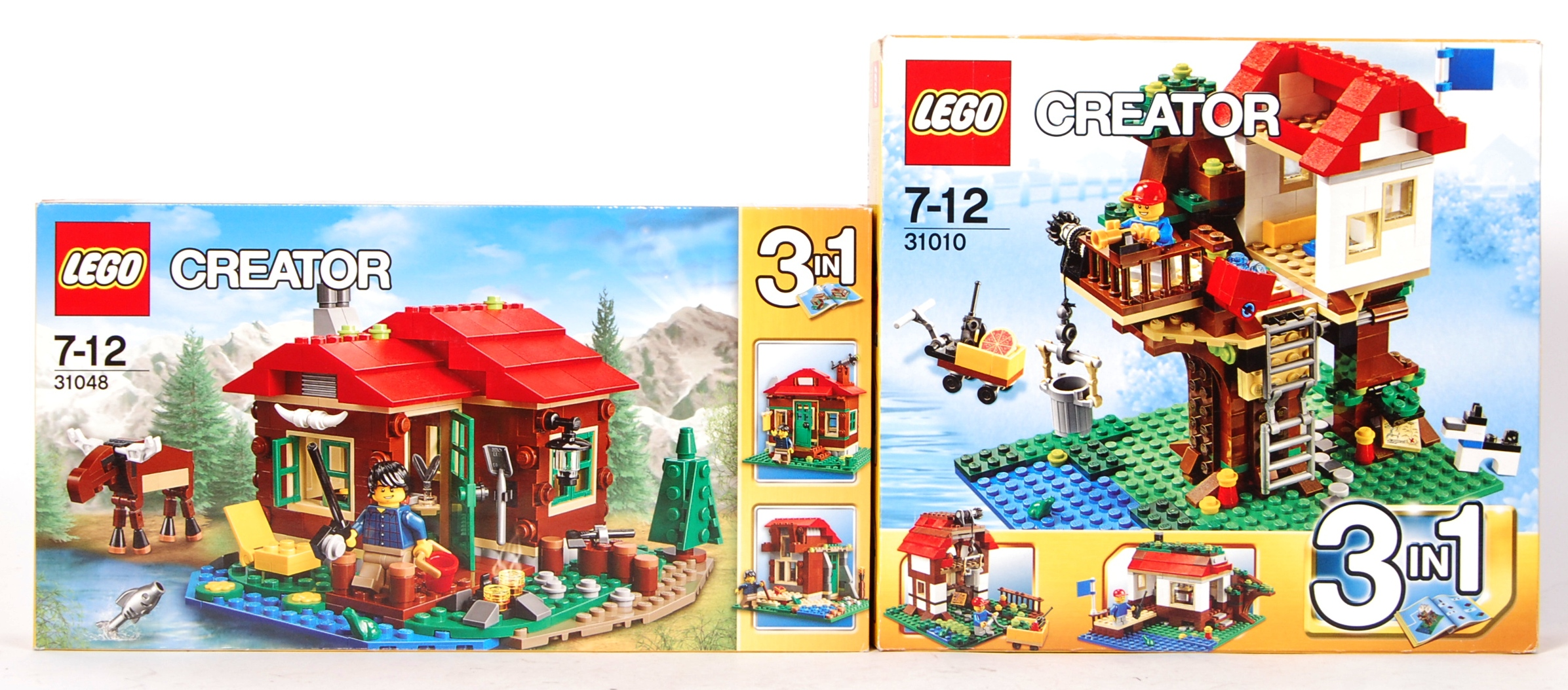 Lot 25 - LEGO CREATOR SET NO. 31048 LAKE SIDE LODGE & 31010