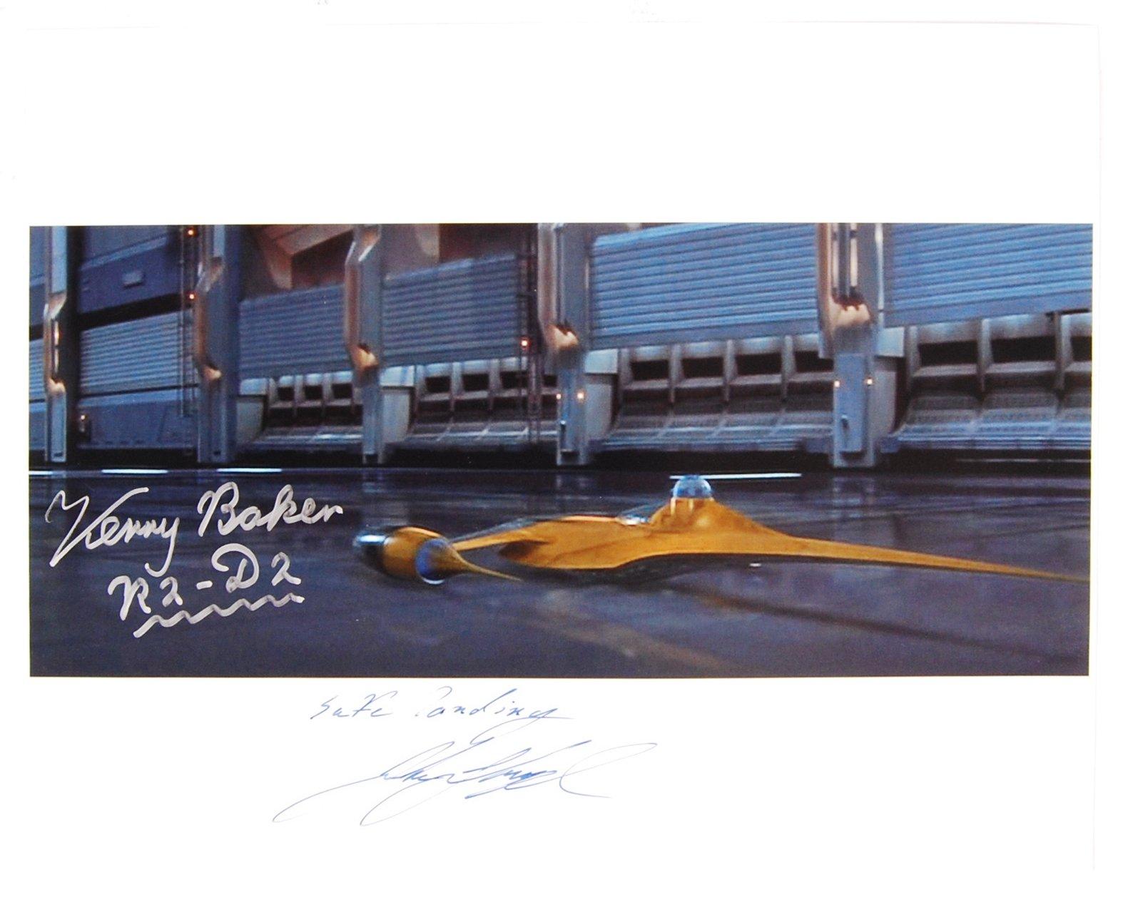 STAR WARS - JAKE LLOYD & KENNY BAKER - AUTOGRAPHED