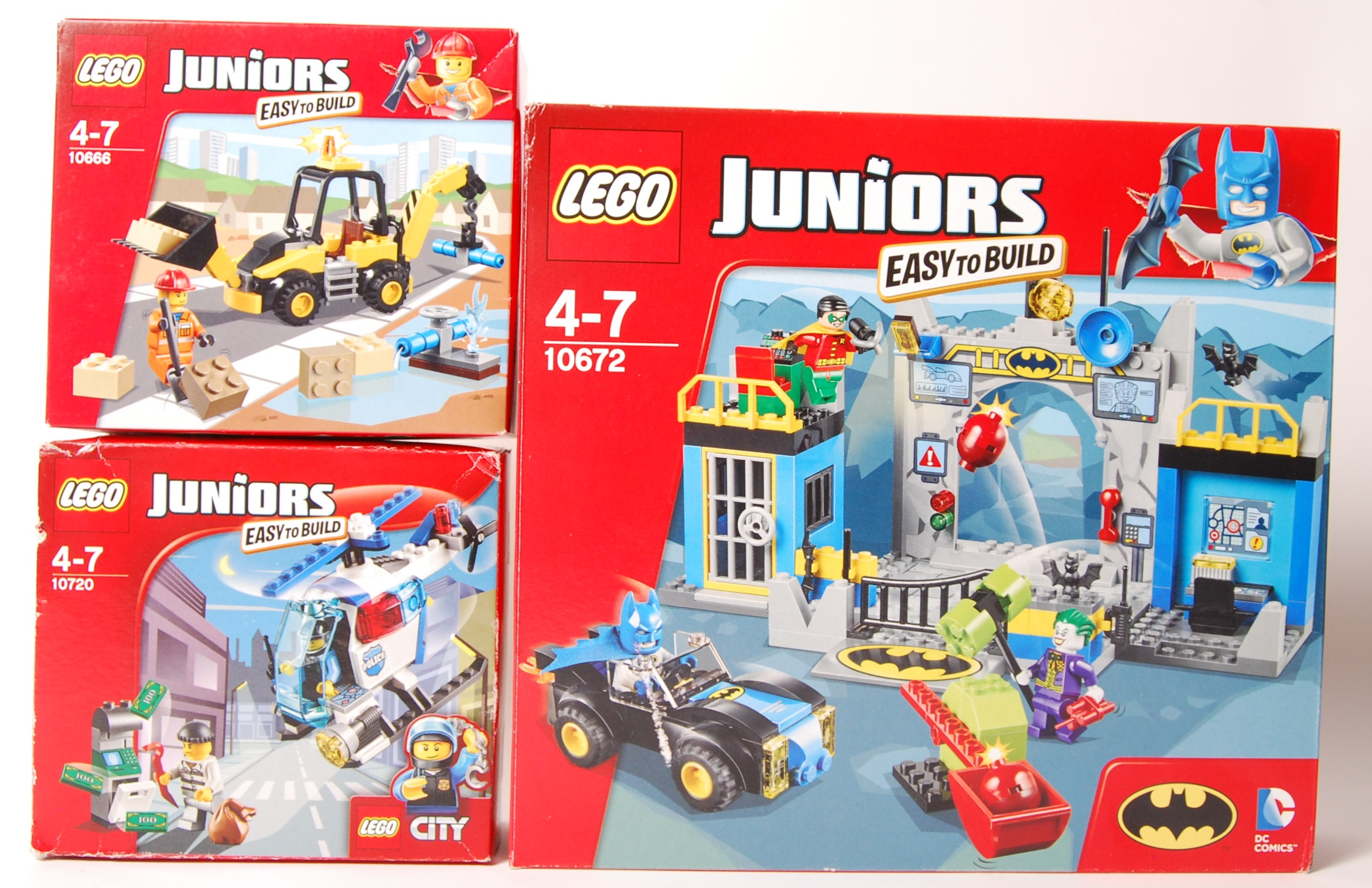 Lot 7 - LEGO JUNIORS SERIES SET NO'S. 10666, 10720, & 1067