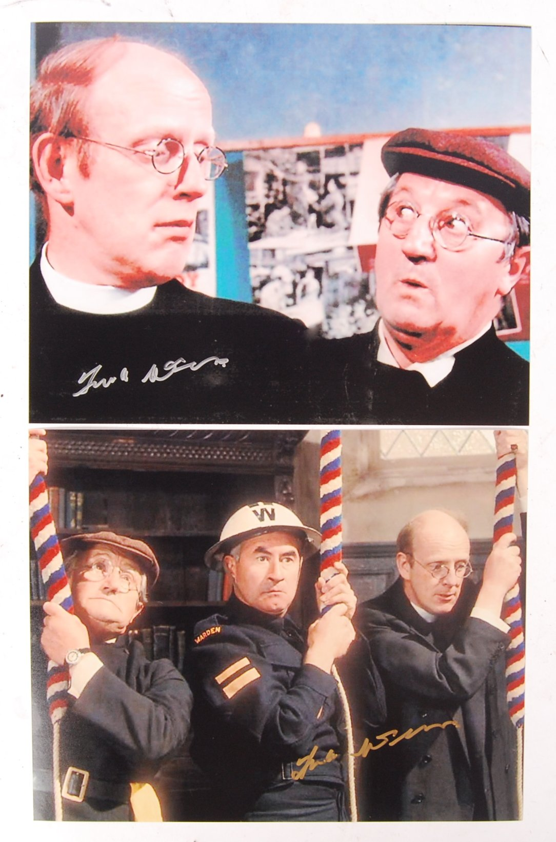 DAD'S ARMY ACTOR FRANK WILLIAMS AUTOGRAPHED PHOTOS