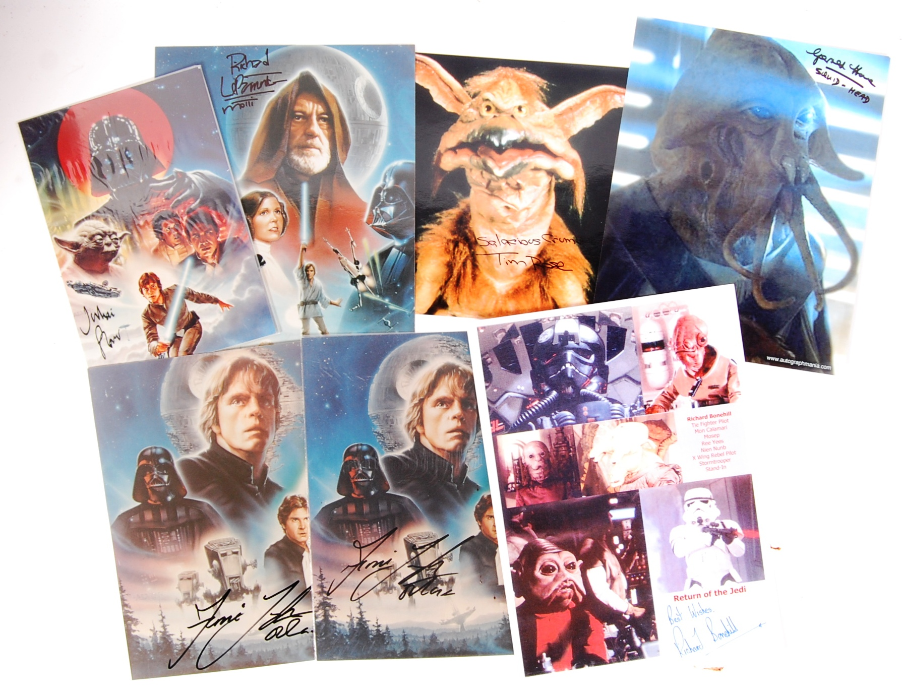 STAR WARS - SELECTION OF AUTOGRAPHED PHOTOGRAPHS