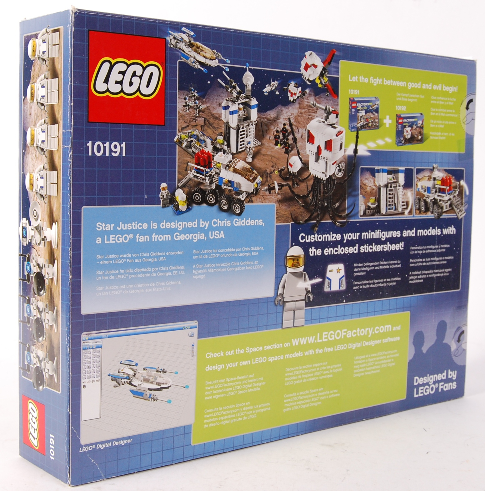 LEGO FACTORY 10191 ' STAR JUSTICE ' BOXED SET - Image 2 of 2