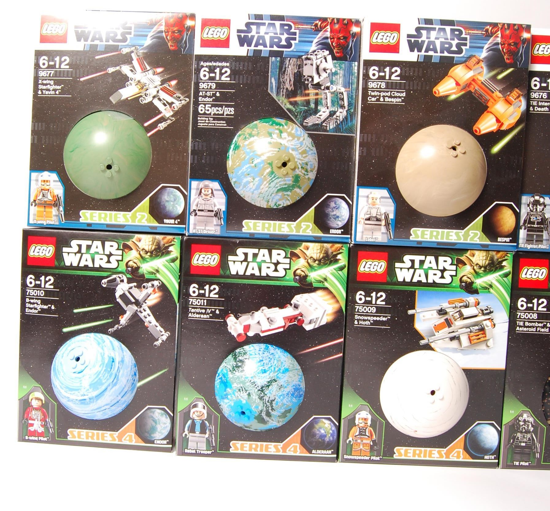 Lot 4 - COMPLETE SET OF STAR WARS ' PLANETS ' SERIES 1-4 B