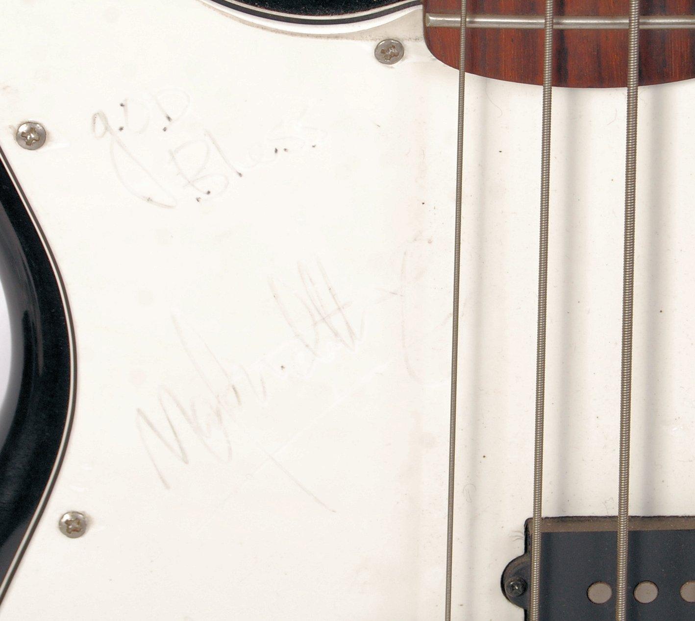 MARK WAHLBERG ' ROCKSTAR ' PROP LEFT HANDED BASS G - Image 2 of 8