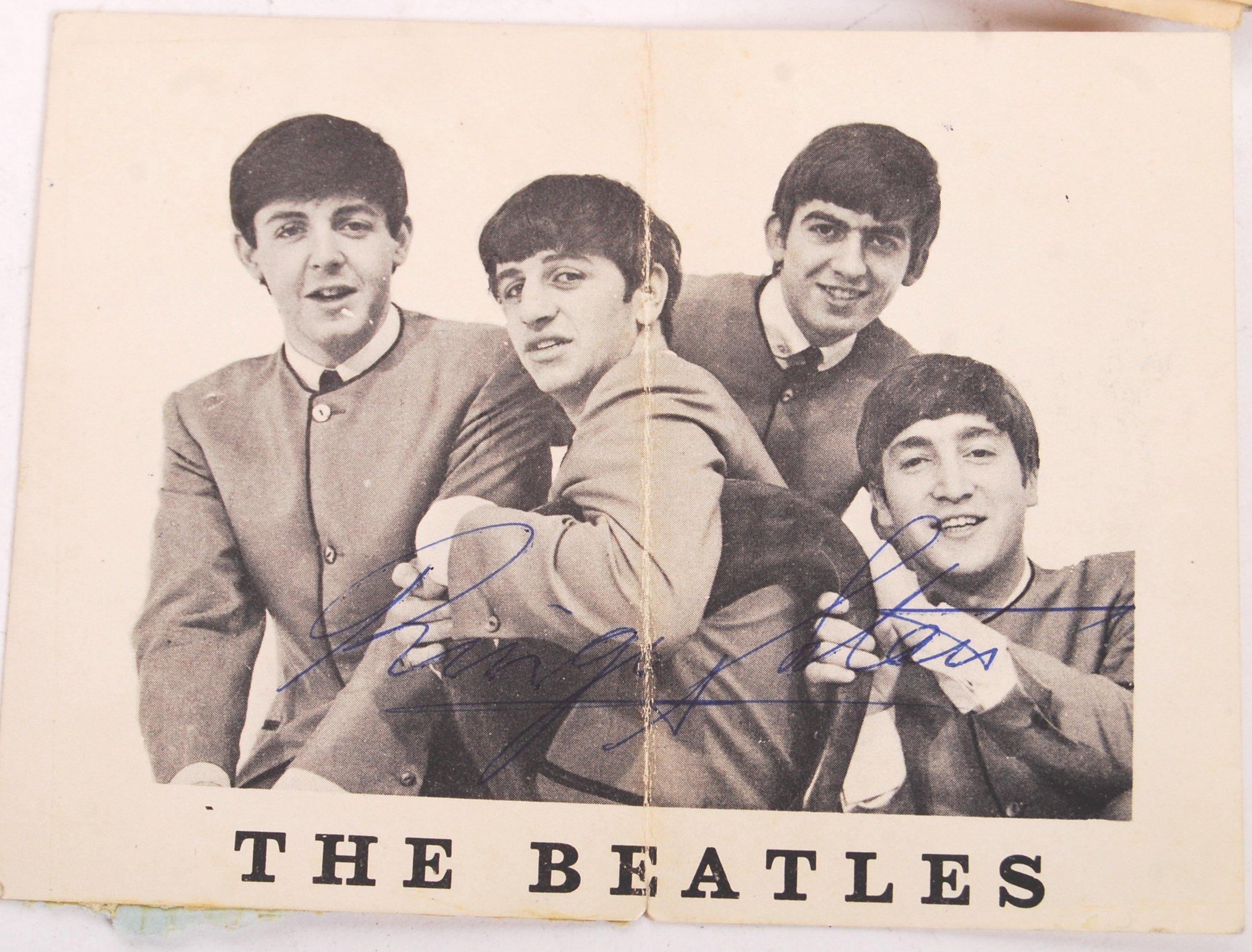 Lot 44 - INCREDIBLY RARE PERSONAL BEATLES AUTOGRAPH COLLECT