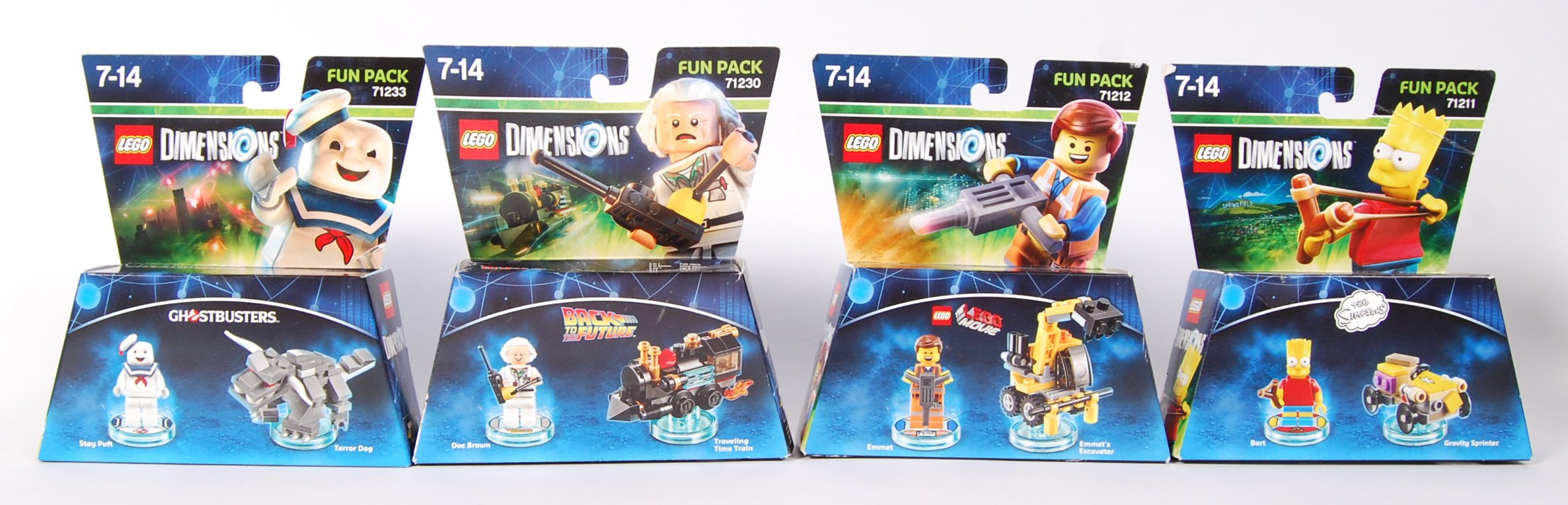 LEGO DIMENSION 71233 , 71230 , 71212 AND 71211 BOX