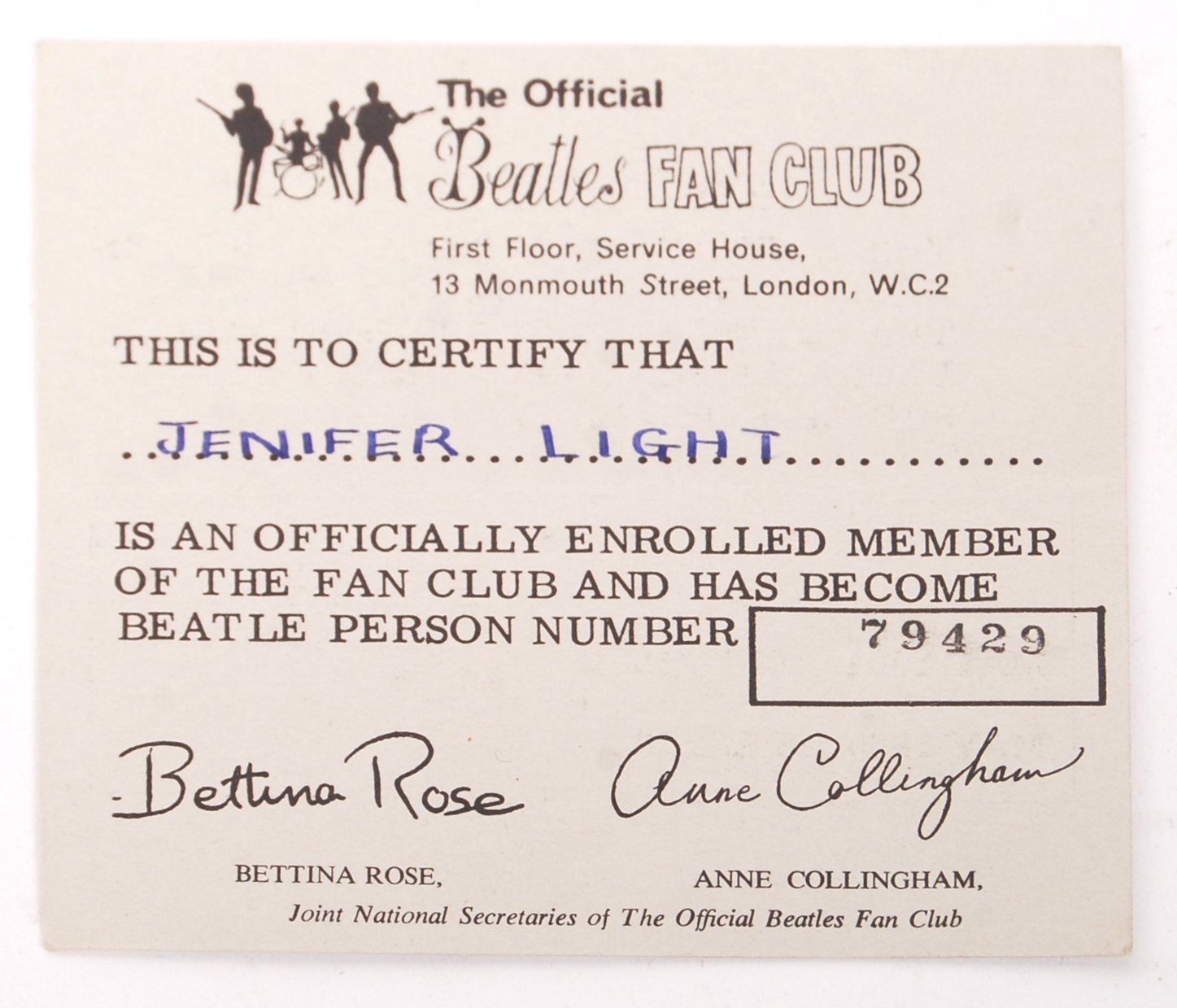 INCREDIBLY RARE PERSONAL BEATLES AUTOGRAPH COLLECT - Image 8 of 12