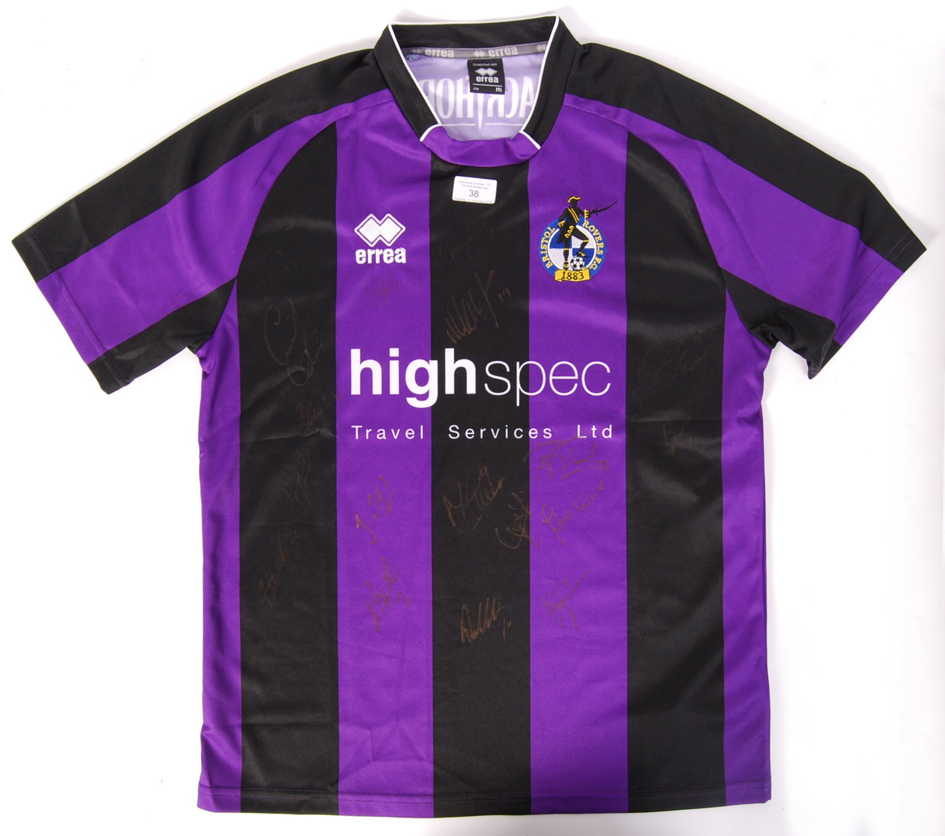 Lot 36 - BRISTOL ROVERS FOOTBALL AUTOGRAPHED SHIRT
