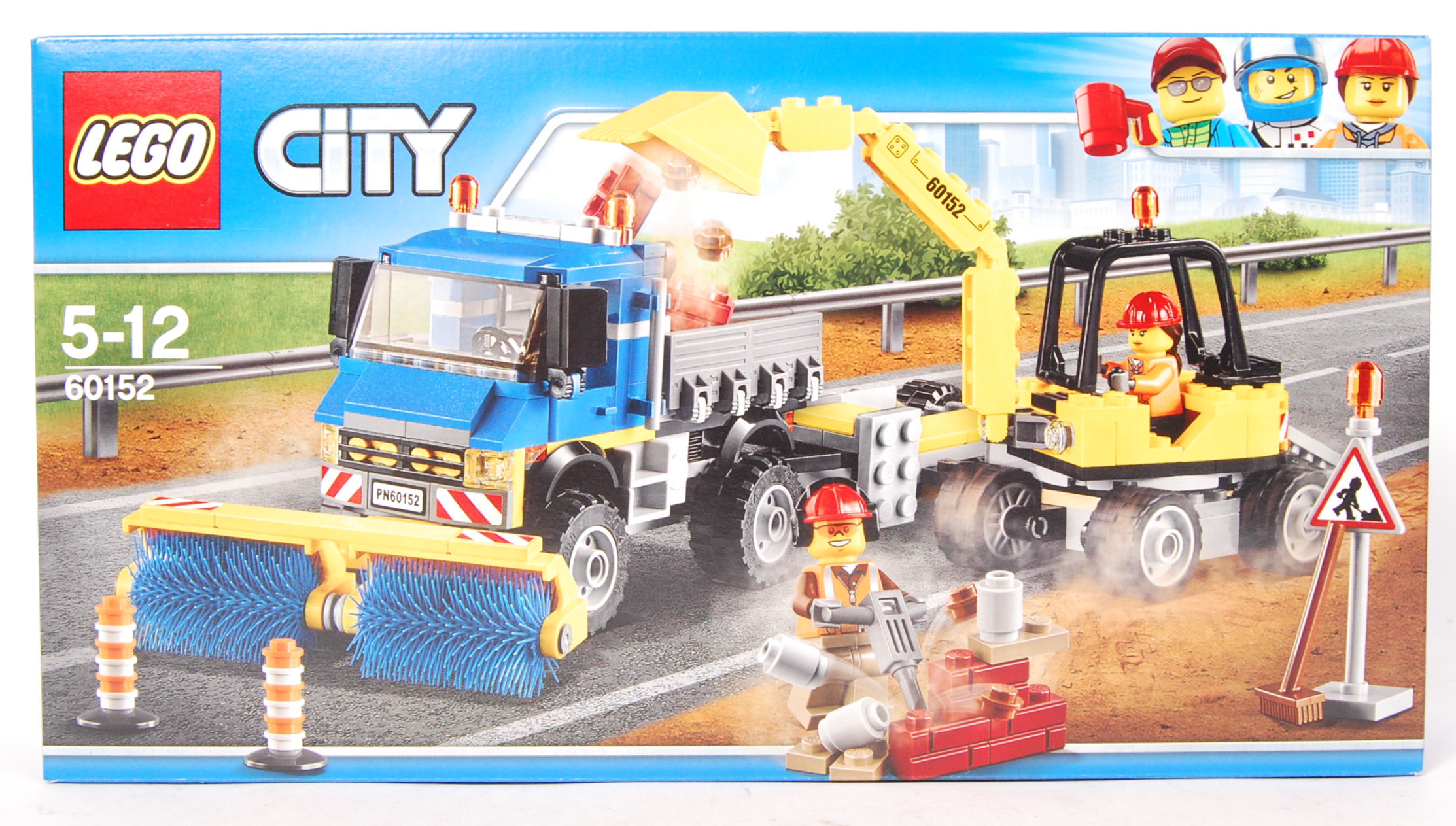Lot 19 - LEGO CITY SET NO. 60152 CITY SWEEPER AND EXCAVATOR