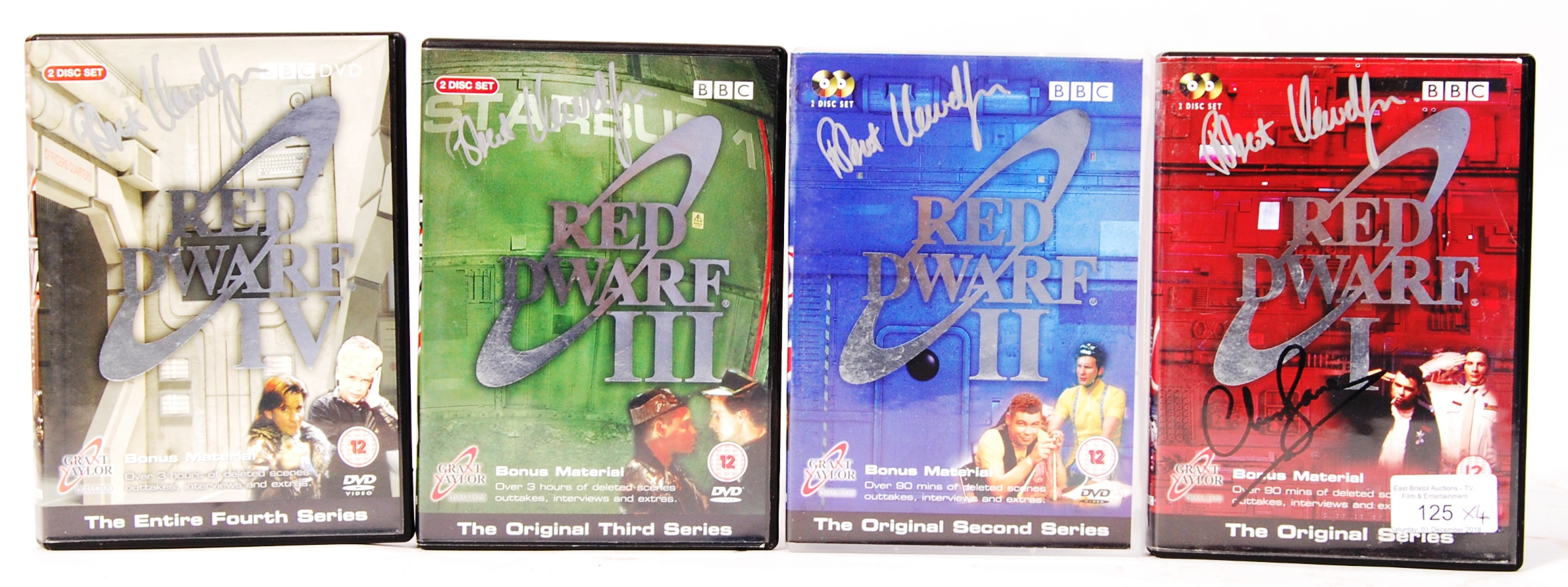 RED DWARF SERIES 1-4 AUTOGRAPHED DVD COLLECTION