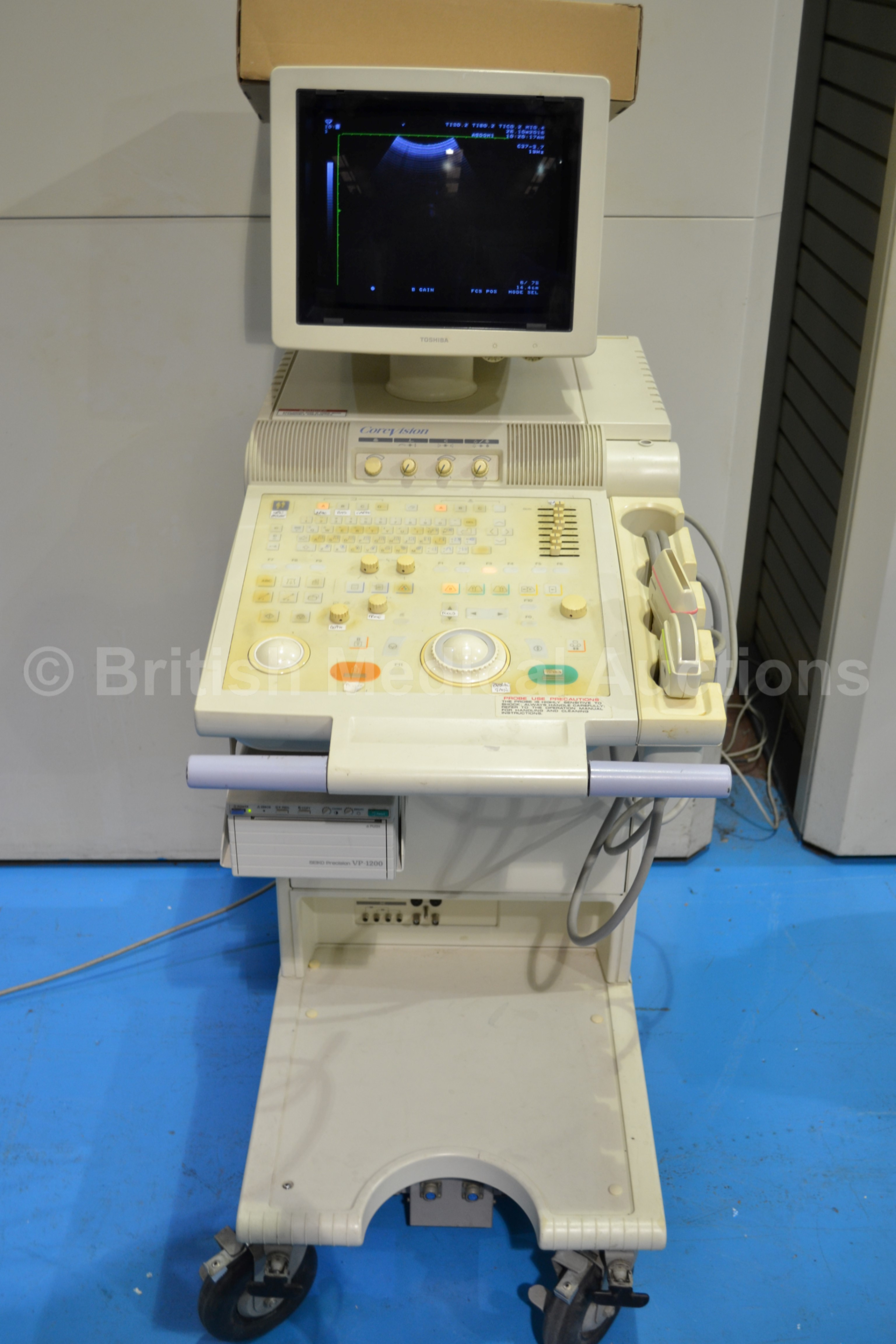toshiba corevision ssa 350a ultrasound scanner with two transducers rh bidspotter co uk