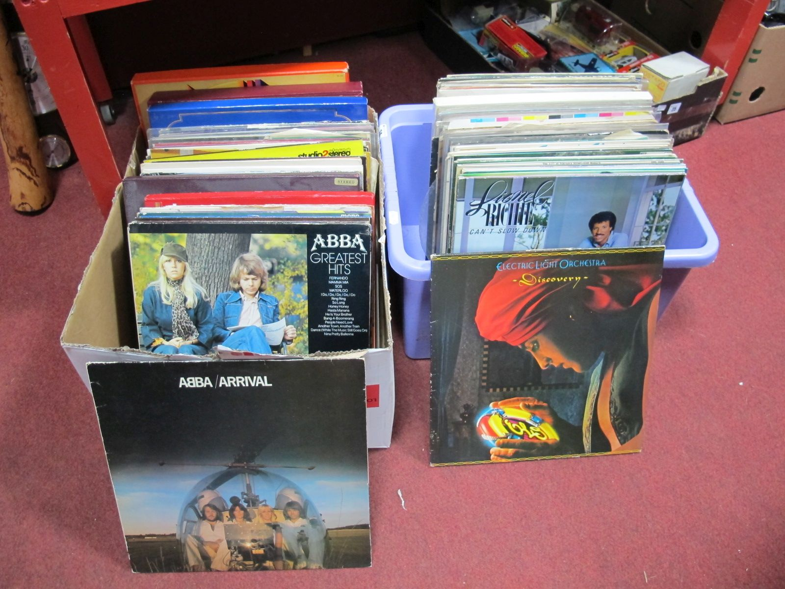 Lot 24 - LP's, to include Abba, Lionel Ritchie, Cliff Richard, Roy Orbison, Classical interest:- Two Boxes
