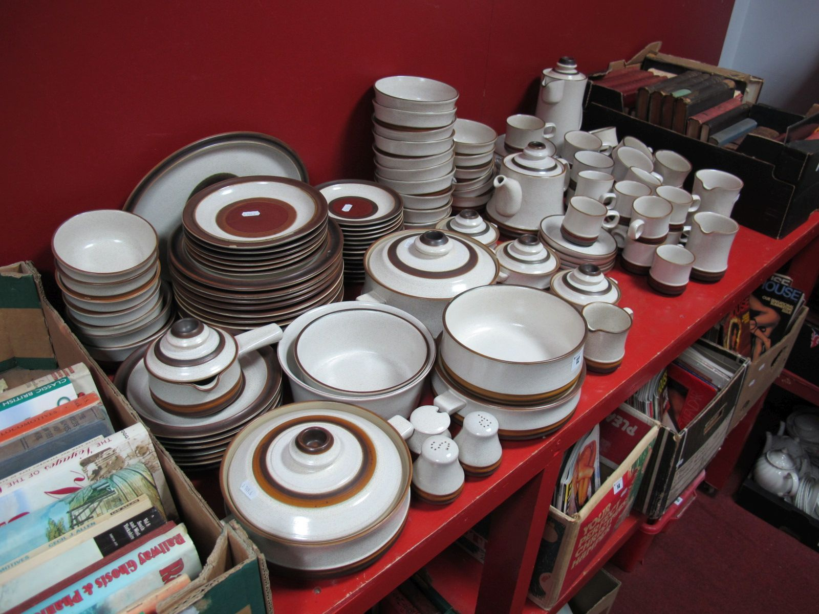Lot 12 - A Large Quantity of Denby Tea, Coffee, Breakfast and Dinner Wares, (approximately one hundred and