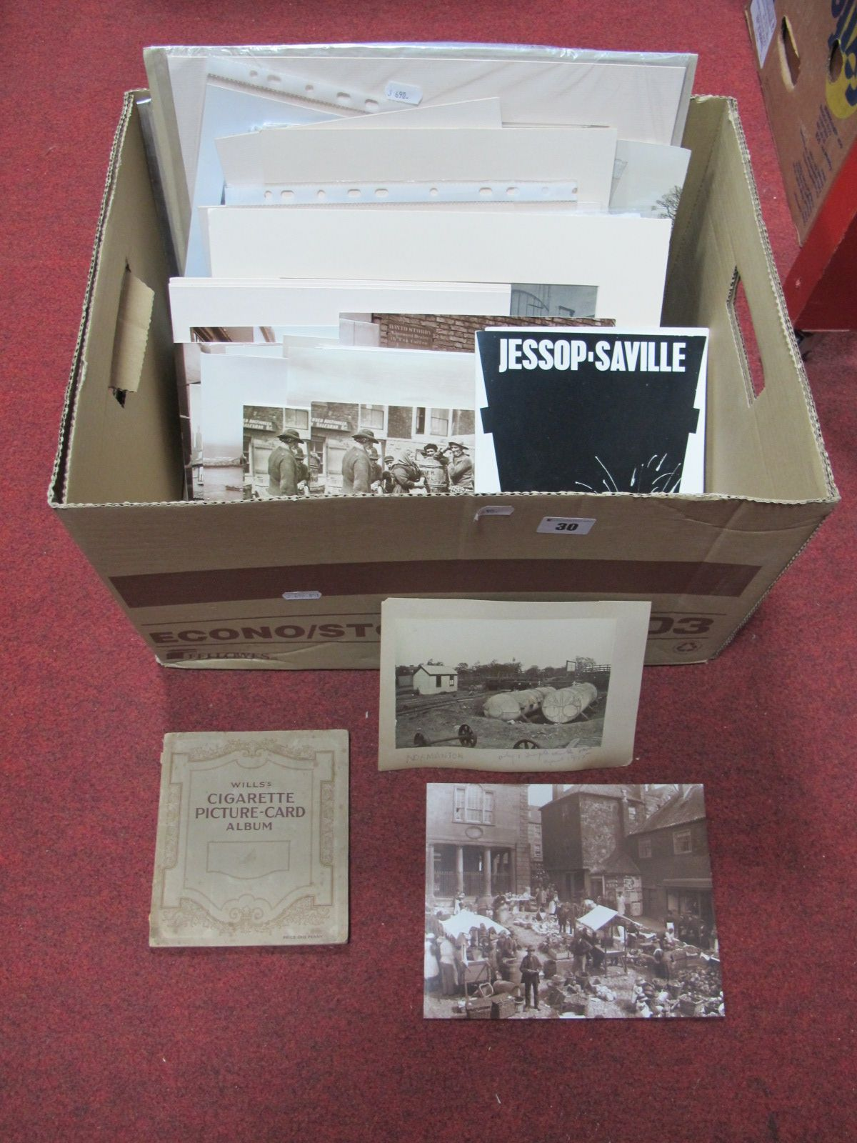 Lot 30 - A Sheffield Jessop Saville Booklet, foundry and other prints, Sutcliffe Whitby reprints. Early XX