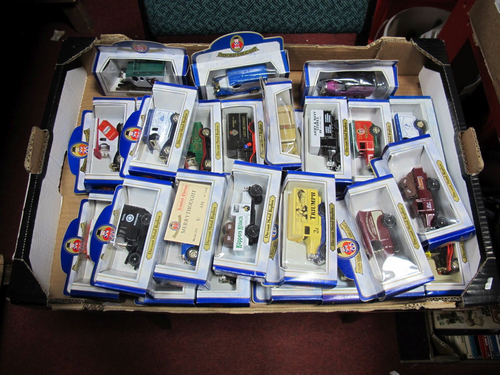 Lot 51 - Twenty Five Diecast Commercial Vehicles, by Oxford Diecast, all boxed.
