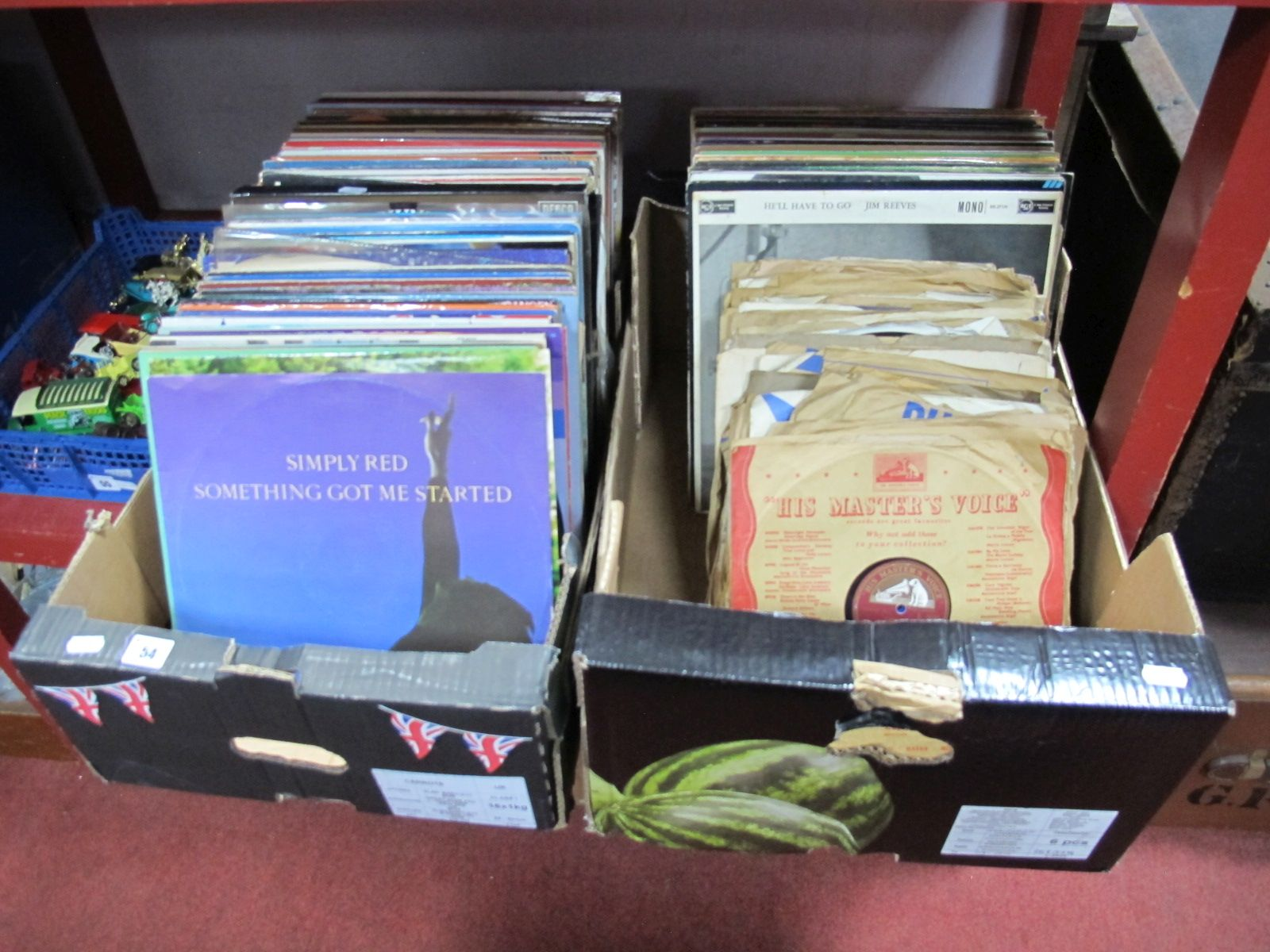 Lot 54 - L.P's, to include Country and Western, easy listening, pop, etc and a collection of 78's:- Two
