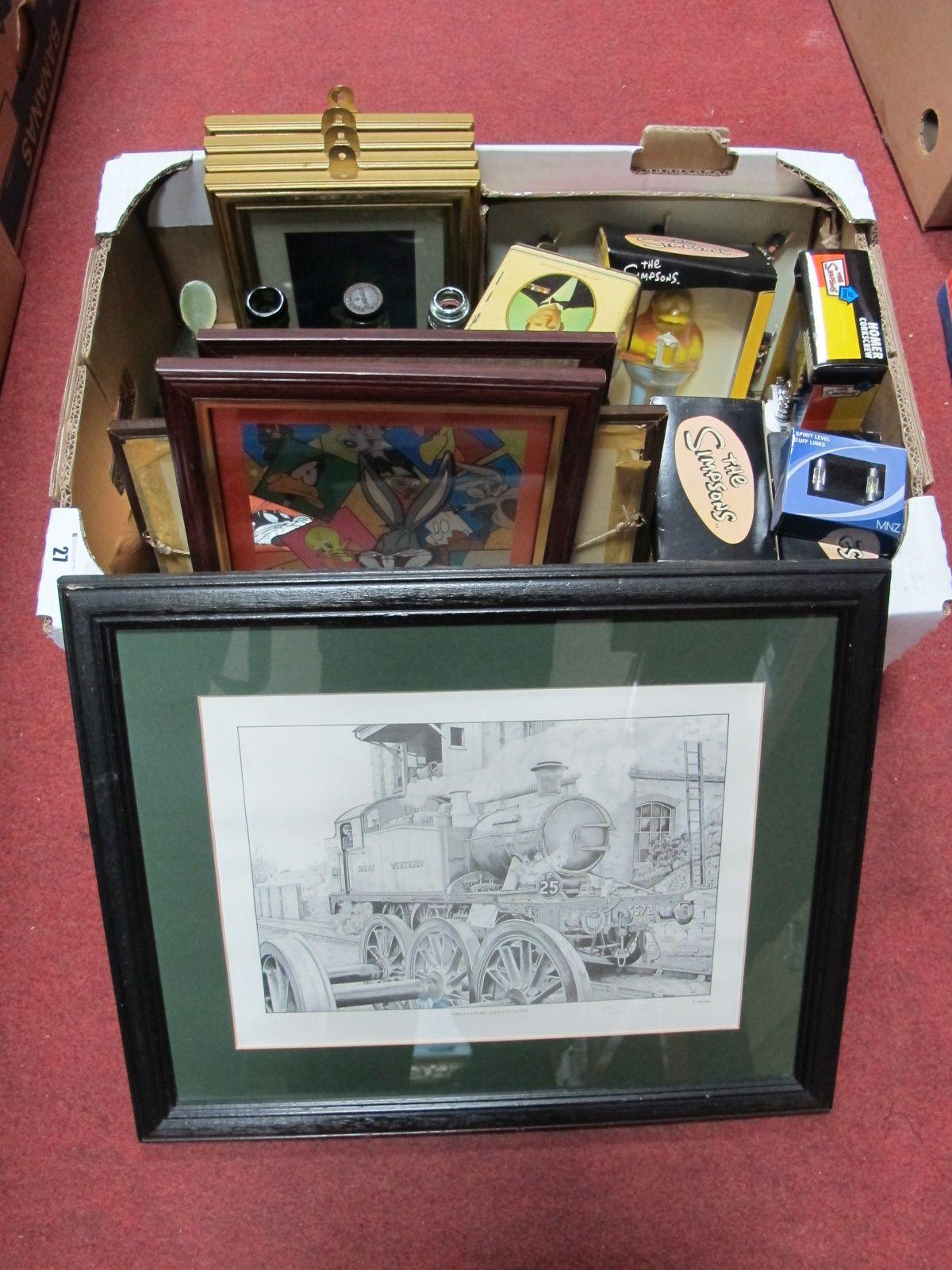 Lot 27 - XIX Century Bottles, The Simpsons Homer bottle opener, Homer corkscrew, pewter mugs, Barney bottle