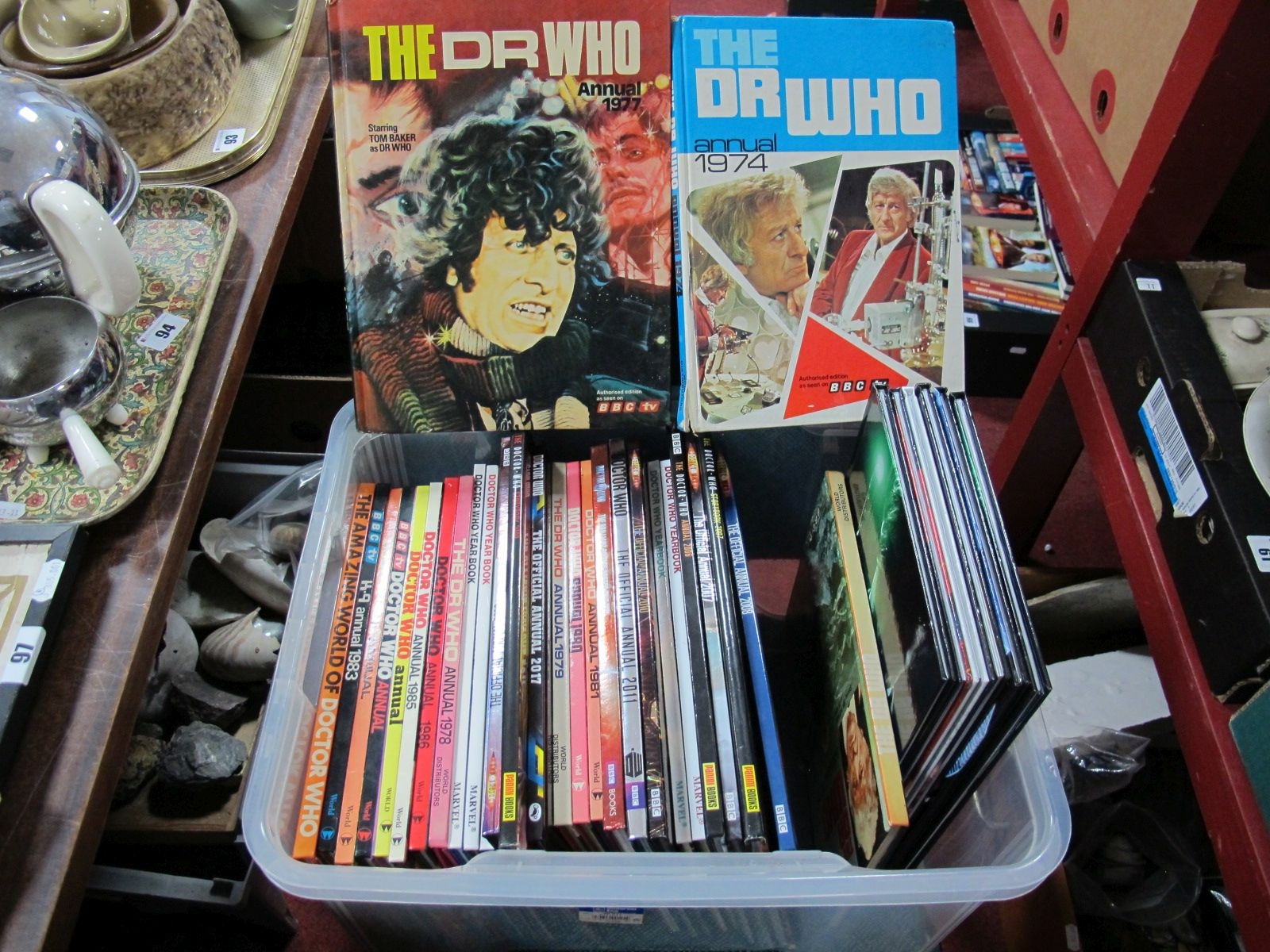 Lot 60 - Over Thirty Dr. Who Annuals, 1970's and later.