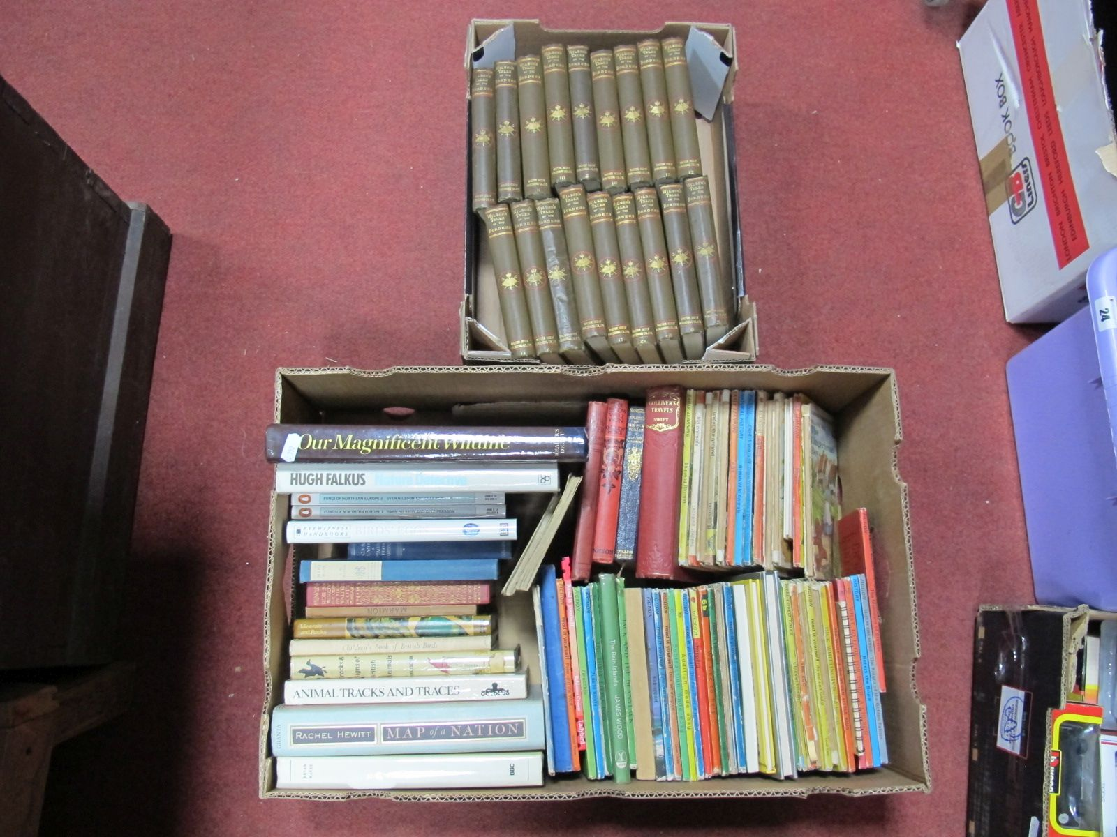 Lot 22 - A Wilson's Tales of The Borders, eighteen volumes, Ladybird and other children's books, Wildlife,