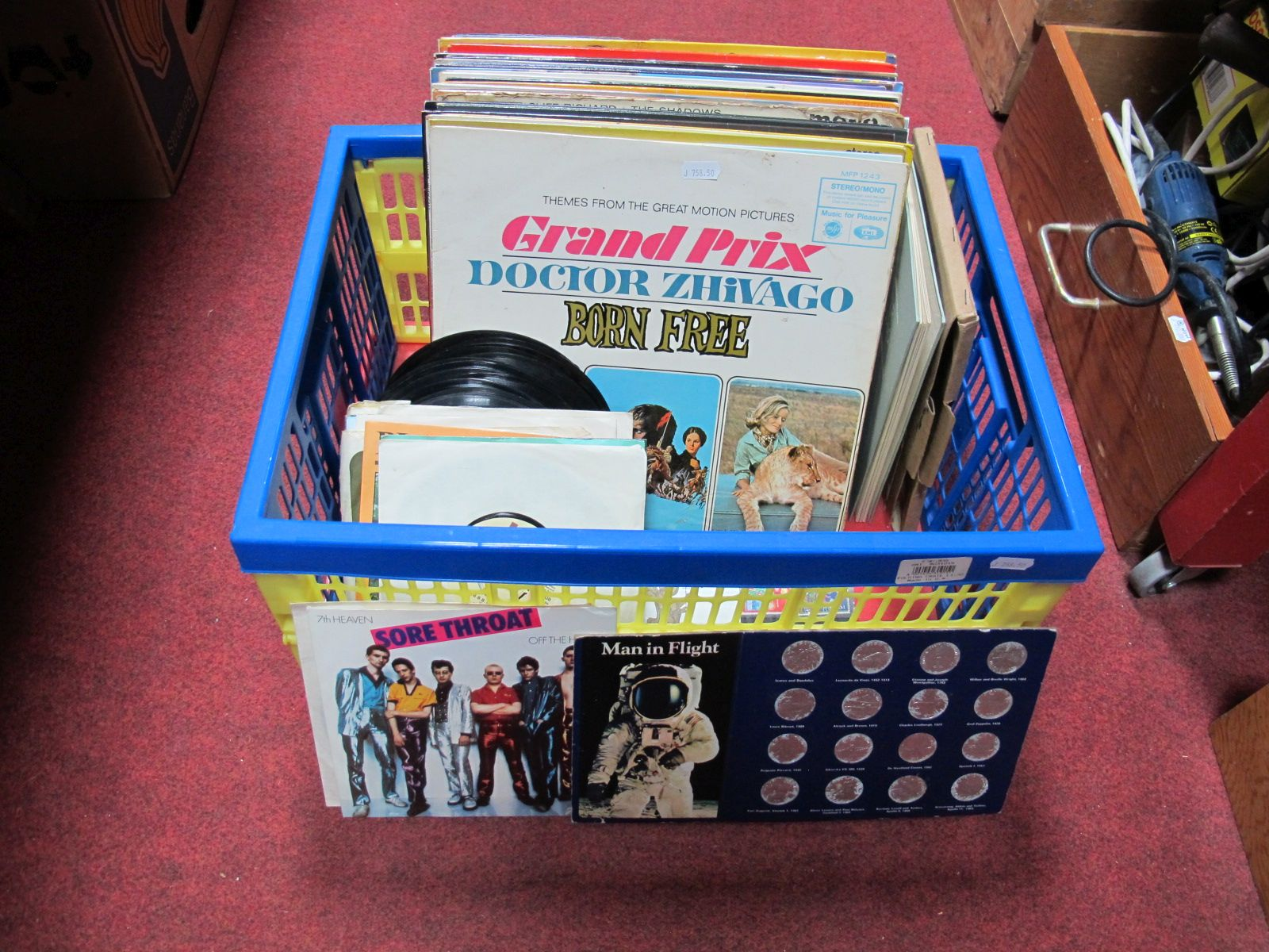 Lot 18 - A Collection of L.P.'s and 45 RPM'S, including Slade, T-Rex, soundtracks, etc, space flight