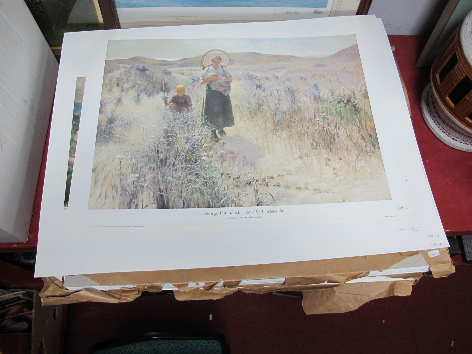 Lot 56 - A Large Quantity of Unframed Prints, (approximately 400) including George Hitchcock (1850-1913),