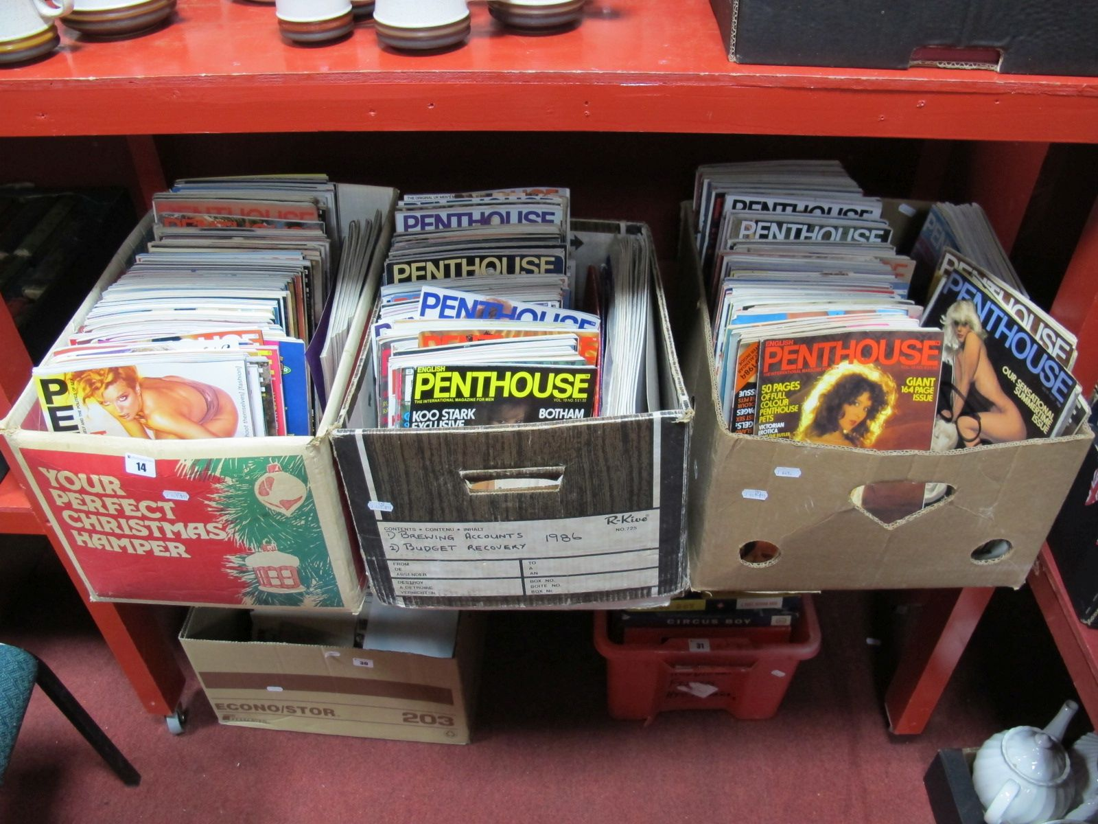 Lot 14 - Penthouse Magazines, approximately two hundred and fifty, volumes thirteen to thirty one. 'Best of',
