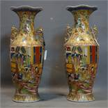 A large pair of 20th century Chinese vases, H.60cm