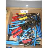 LOT - UNIVERSAL SIDE CUTTERS, WIRE STRIPPERS, PLIERS, & CLIP EXPANDER