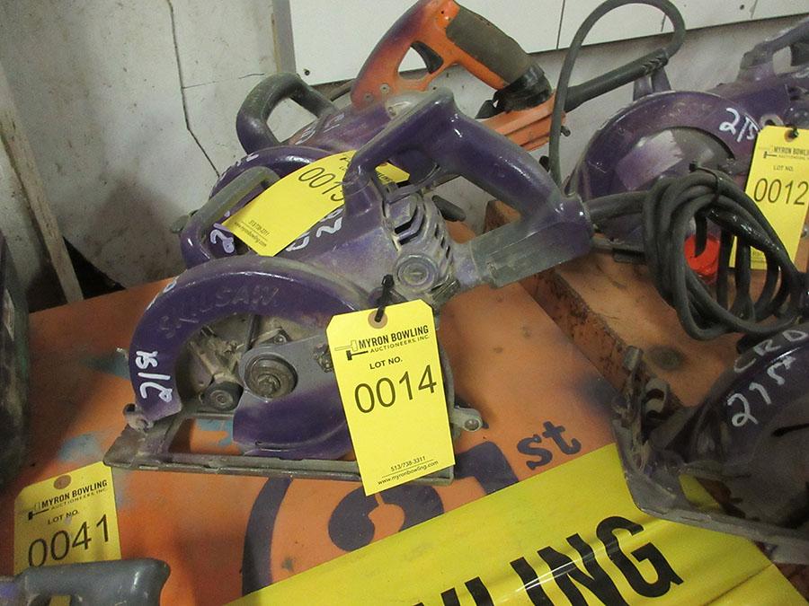 Lot 14 - SKILSAW WORM DRIVE POWER SAW