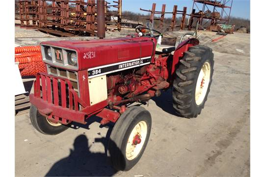 INTERNATIONAL 384 TRACTOR, 2-WD, FRONT BUMPER
