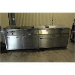 "ULTRASONIC CLEANING SYSTEM, ULTRASONIC POWER CO. MDL. 51-15-133 4-STATION, 16""W. x 20'L. x 16"" dp."
