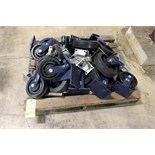 LOT OF CASTER WHEELS (on one pallet)
