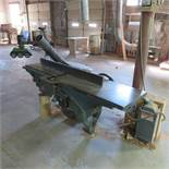"""Yates American #1 R26 18"""" Blade, 7' Bed Jointer, 3HP, 3 Phase with Steff 2034 Power Feed"""