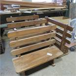(4) Matching Wood Benches Custom Made