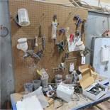 {LOT} On Wall c/o: Asst. Spray Guns & Asst. Accessories